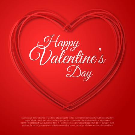 valentine hearts: Happy Valentines Day Greeting Card.