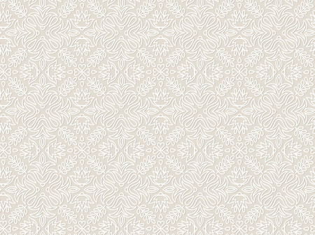 Lace vintage floral vector seamless pattern, tiling. Endless texture for printing onto fabric and wrapping paper or scrap booking. Geometric pattern for wedding design.