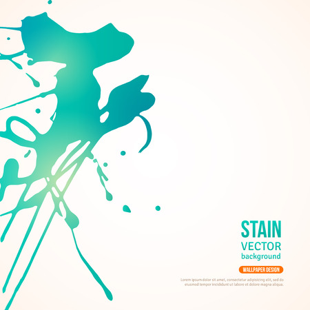 Splatter Paint Banner. Vector Illustration. Painted Background with Acrylic Paint Splash. Ink Spot isolated on white. Abstract Banner Paints. Background for card, poster, identity design