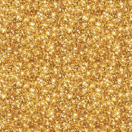 oro: Brillo del oro de la textura, sin fisuras de las lentejuelas del patrón. Luces y chispas. Brillante año nuevo o telón de fondo de Navidad. Polvo de oro.