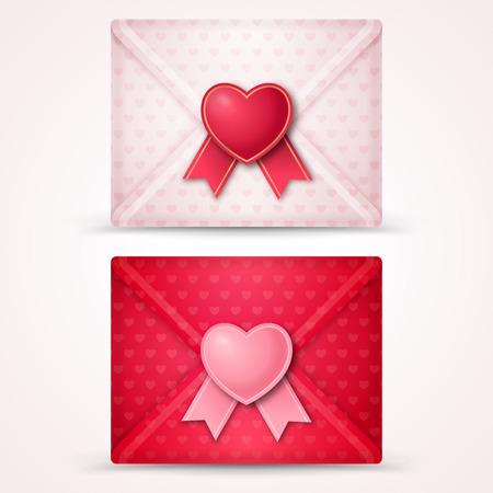 love letter: Del sobre del día de San Valentín feliz. Vectores