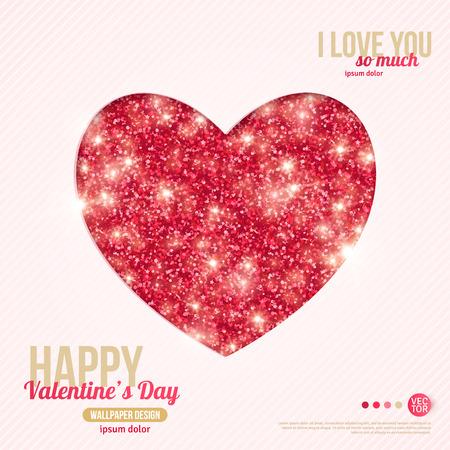 幸せなバレンタインデーのグリーティング カード。