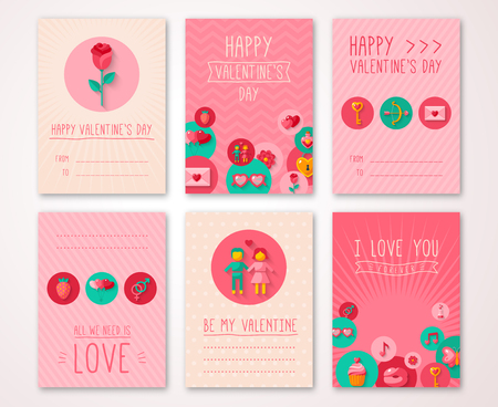 heart design: Set of Valentines Day Brochures Template.