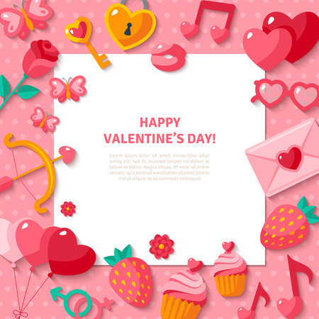 Happy Valentines Day Background. Illustration