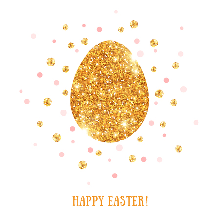 golden egg: Easter golden egg with place for your text.