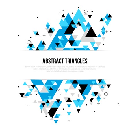 Abstract background with geometric triangle shapes. design layout for business presentations,  posters. Scientific future technology background. Geometry polygon. 向量圖像
