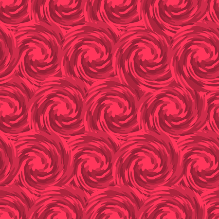 pink swirl: Abstract roses seamless pattern. Pink swirl tiling. Vector Illustration. Illustration