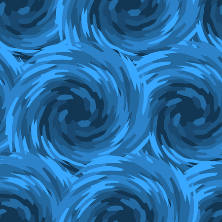 water vortex: Abstract blue swirl seamless pattern. Vortex tiling. Vector Illustration. Illustration
