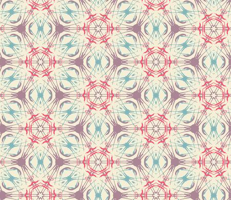 tiling: Vintage tribal seamless pattern. Vector illustration. Ethnic tiling in gentle colors.