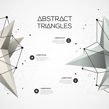 Abstract background with geometric polygonal elements. Infographic design layout for business presentations, flyers, websites and posters. Vector template with icons and options.