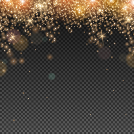 glitter background: Abstract Light Overlay Effect on Transparent Background. Vector Illustration. Bokeh and Sparkles.