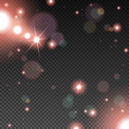 nakładki: Abstract Light Overlay Effect on Transparent Background. Ilustracja