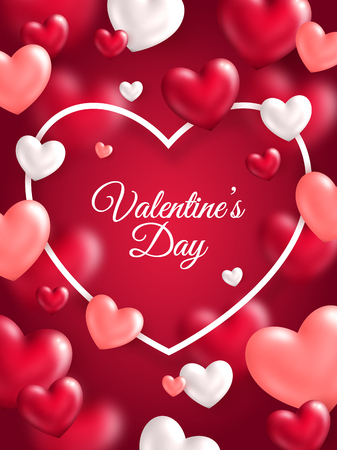 valentines day: Valentines day vertical banner Illustration