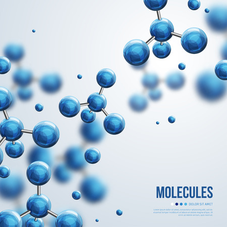 Abstracte molecules ontwerp