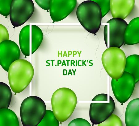 saint: Saint Patricks Day Poster with Shiny Balloons