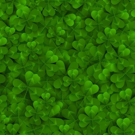 シームレス パターン 4 とツリーの葉のクローバー  イラスト・ベクター素材