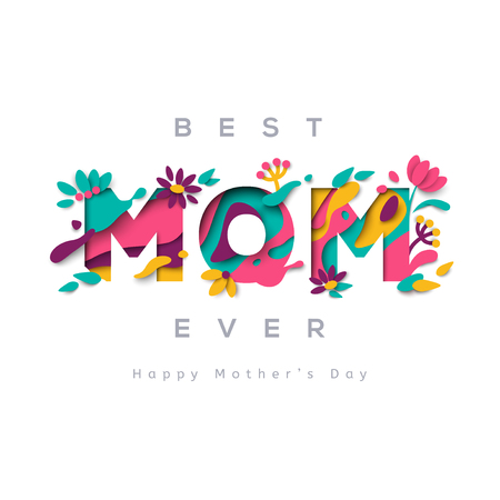 Best mom ever greeting card 版權商用圖片 - 73888750