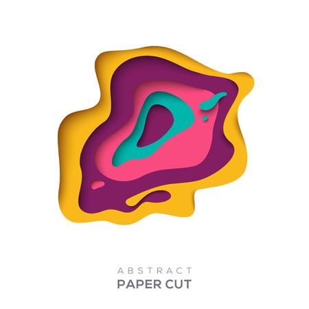 Sfondo astratto con forme di taglio di carta Vettoriali