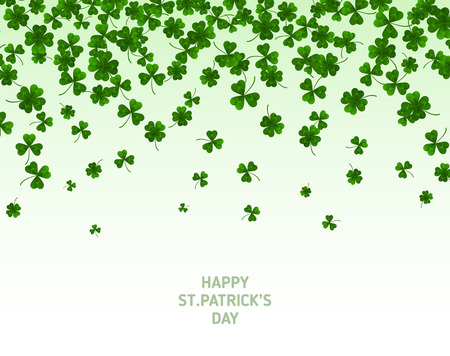 Saint Patricks Day Border with Green Clovers Illustration