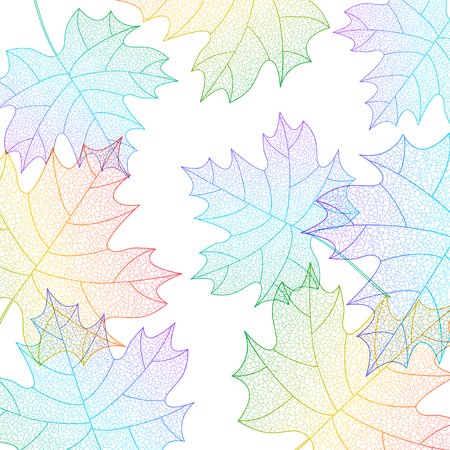 Background with maple leaves macro texture
