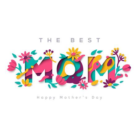 The best mom greeting card Reklamní fotografie - 75228951