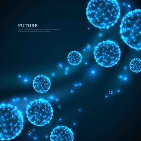 Blue particles flowing towards