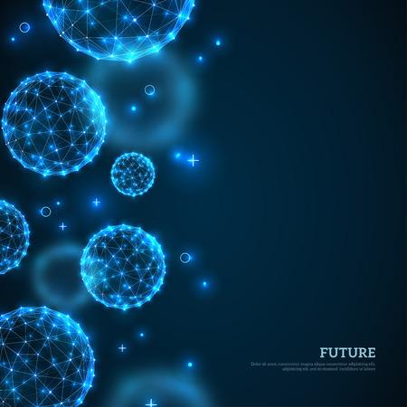 Abstracte gloeiende deeltjesgrens