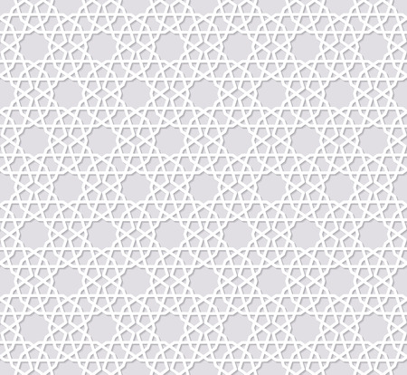 arabesque pattern: Arabesque seamless pattern with stars
