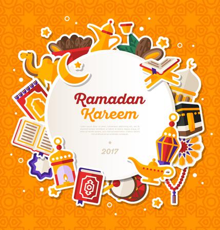 Ramadan Kareem Circle Banner.