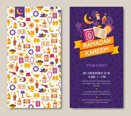 Ramadan Kareem two sides poster Illustration
