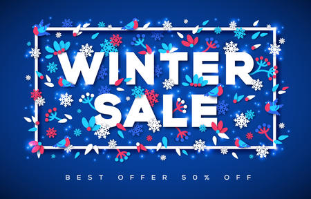 Winter Sale typography design Stock Vector - 81166838