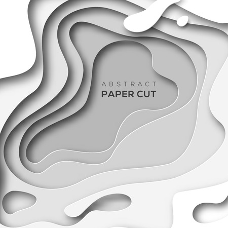 Background with white paper cut shapes