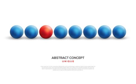 青色のものの間でユニークな赤いボール