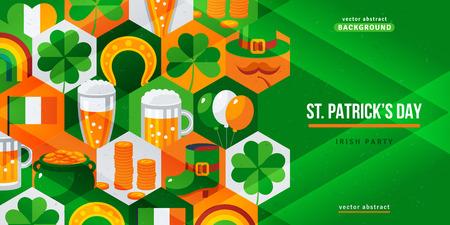 Saint Patricks day banner. Illustration