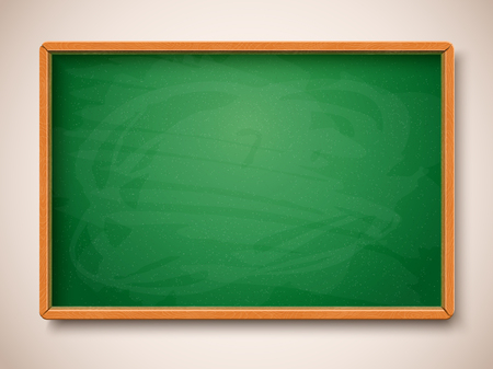 Green chalkboard illustration. Illustration