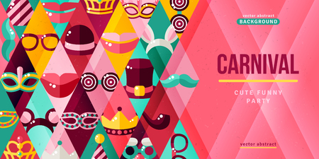 Carnival party creative banner.