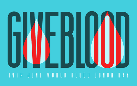 Typography poster for blood donation Illustration