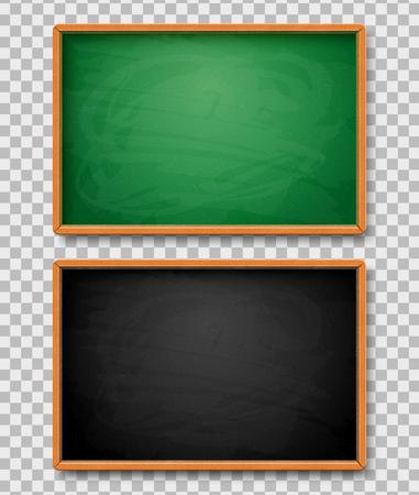 Black and Green chalkboards Illustration