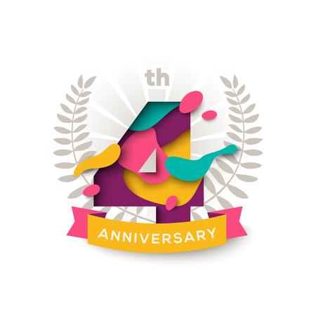 Four years anniversary