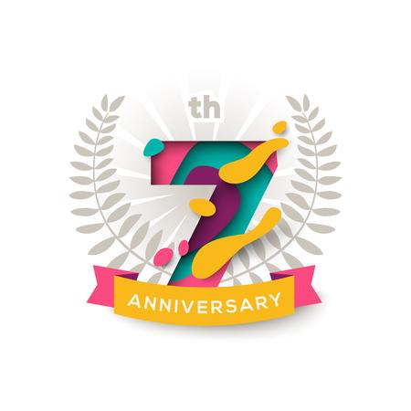 7年記念日  イラスト・ベクター素材