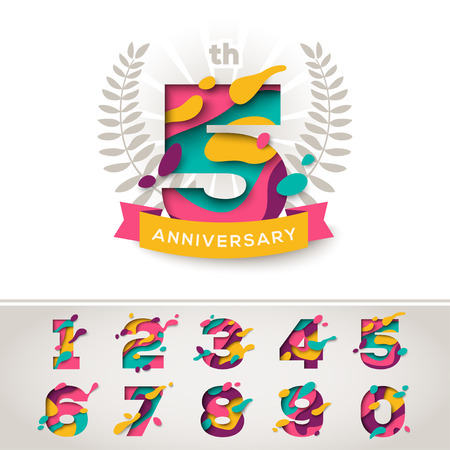 Anniversary celebration signs