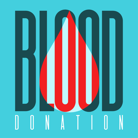 Typography poster for blood donation day