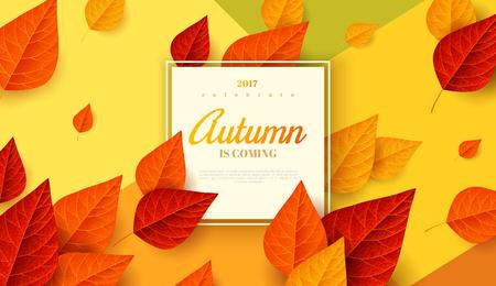 Autumn design frame