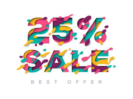 Paper cut sale 25 percent off