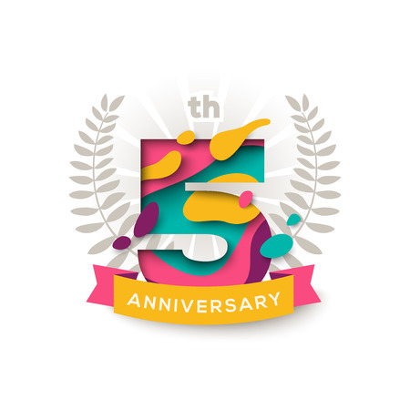 Five years anniversary Illustration