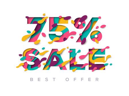 Paper cut sale 75 percent off