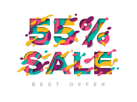 Paper cut sale 55 percent off.