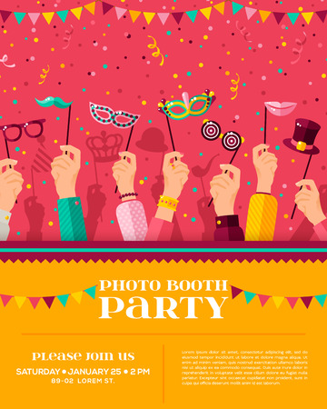 Carnival themed booth party poster.