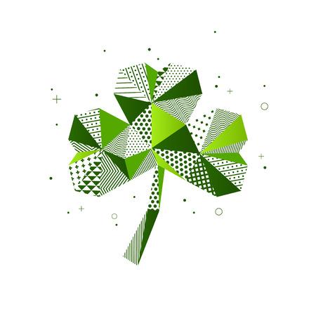 パトリックの日3つの葉のクローバー  イラスト・ベクター素材
