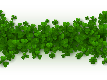 St. Patricks day border. Ilustrace